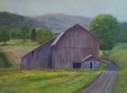 Old Barn Paintings - Around the Bend by Betty Henderson