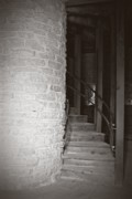 Wooden Stairs Photo Prints - Around the Corner Print by Giliane Mansfeldt