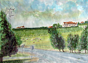 Jordan Painting Originals - Around The Suburb Of Madaba by Ziyad Mihyar