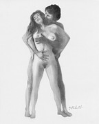Man And Woman Drawings - Arousal by Albert Notarbartolo