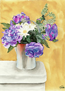 Floral Arrangement Paintings - Arrangement by Ken Powers