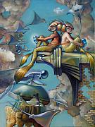 Merman Paintings - Array of Hope and Change by Patrick Anthony Pierson