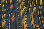 Precise Prints - Arrival board at Paris Charles de Gaulle International Airport Print by Sami Sarkis