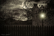 Haunted House  Digital Art Prints - Arrival Print by Lourry Legarde