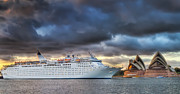 Sydney Harbour Prints - Arrival of Gloom Print by Mark Lucey