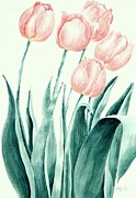 Perennials Painting Posters - Arrival of Spring Poster by Rita Fors