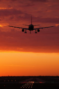 Airliner Prints - Arriving at Days End Print by Andrew Soundarajan