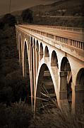 Arched Bridge Posters - Arroyo Hondo Bridge Poster by Lynn Andrews