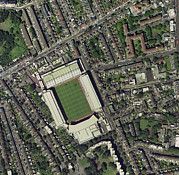 Arsenal Football Posters - Arsenals Highbury Stadium, Aerial View Poster by Getmapping Plc
