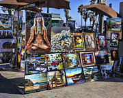 Bop Framed Prints - Art 4 Sales Venice beach Framed Print by Chuck Kuhn