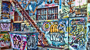 Rapid City Metal Prints - Art Alley 2 Metal Print by Adam Vance