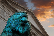 Chicago Landmark Prints - Art and Lions Print by Anthony Citro