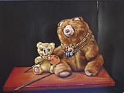 Choker Paintings - Art Bears by Mahto Hogue