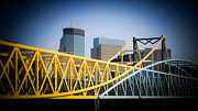 City Buildings Prints - Art Bridge Print by Perry Webster