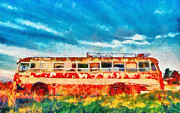 Ethiopian Jew Photographer Posters - Art bus Poster by Benny  Woodoo