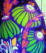 Art Deco    Flowers  6 Print by Gunter  Hortz