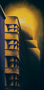 Building Painting Originals - Art Deco Eerie by Duane Gordon