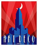 Advertisment Posters - Art Deco Poster by Pg Reproductions