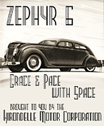 Advertisment Paintings - Art Deco Poster Zephyr  by Reproduction