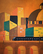 Milton Keynes Prints - Art Deco Voyage Print by Zbigniew Rusin