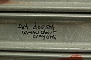 Public Art Prints - Art doesnt know about Crayons . . . Print by Matthew Saindon