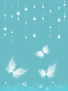 Butterflies Digital Art - Art en Blanc - s11a by Variance Collections