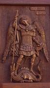 Art Icon Of St. Archangel Michael Print by Goran