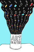 Art Product Posters - Art in a Tin Poster by Andy  Mercer
