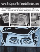 California Fine Art Galleries Originals - Art in America Ad by Signs Signs of the Times Collection