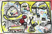 Neo-expressionism Mixed Media - Art Is My Bliss by Robert Wolverton Jr