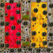 Ladybug Mixed Media Acrylic Prints - Art Modern Acrylic Print by Pepita Selles