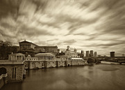 Philadelphia Prints - Art Museum Time Exposer Print by Jack Paolini