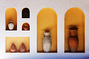 Architectural Design Prints - Art Niches with Pottery Print by Jeremy Woodhouse