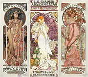 Art Noveau By Alfonse Mucha Collage Print by Don Struke