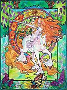 Art Nuevo Unicorn Print by Jenn Cunningham