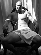 Fotoartbyjake Art - Art of Muscle Man in Black  by Jake Hartz