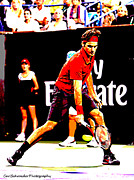 Federer Digital Art Prints - Art of tennis Print by Carl Schroeder III