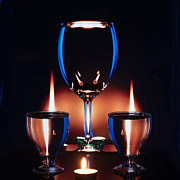Wine-glass Prints - Art of Wine Glass-8 Print by Mukesh Srivastava