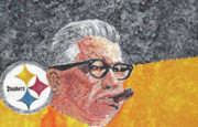 Pittsburgh Steelers Paintings - Art Rooney by William Bowers