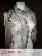 Handcrafted Paintings - Art to wear I fashion IHand painted silk scarf- wrap - Butterfly by L Gifts E-shop