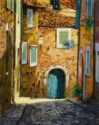 Blue Prints - Arta-Mallorca Print by Guido Borelli