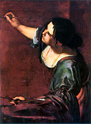 Self-portrait Photo Prints - Artemisia Gentileschi Print by Granger