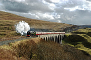 Train On Bridge Prints - Arten Gill Viaduct Print by Gordon Edgar Images