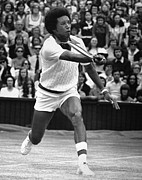 Afro Photos - Arthur Ashe (1943-1993) by Granger