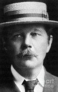 Knighted Metal Prints - Arthur Conan Doyle, Scottish Author Metal Print by Science Source
