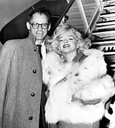 Marilyn Photos - Arthur Miller, Marilyn Monroe by Everett