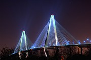 Photographers College Park Metal Prints - Arthur Ravenel Bridge Metal Print by Corky Willis Atlanta Photography