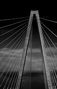 Lanes Prints - Arthur Ravenel Jr Bridge Print by DigiArt Diaries by Vicky Browning
