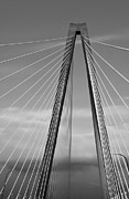 Suspension Posters - Arthur Ravenel Jr Bridge II Poster by DigiArt Diaries by Vicky Browning