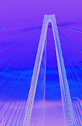 Suspension Posters - Arthur Ravenel Jr Bridge IV Poster by DigiArt Diaries by Vicky Browning